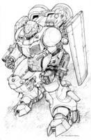 Power Armor WIP by ChuckWalton