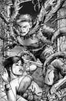 RIFTS Thorn Vine Illustration by ChuckWalton