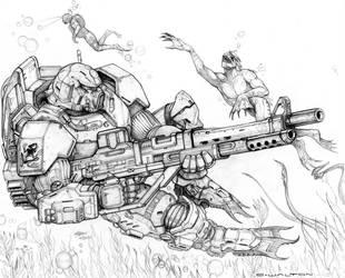 RIFTS BEACH STORMER POWER ARMOR by ChuckWalton