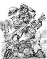 RIFTS  NG Mantis Power Armor by ChuckWalton