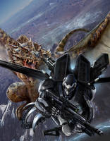 Rifter 70 Cover Super SAMAS vs DRAGON by ChuckWalton