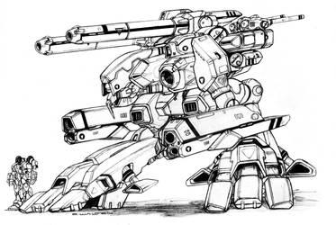 Robotech ZBR 02 Mk IV Officer's Battlepod by ChuckWalton