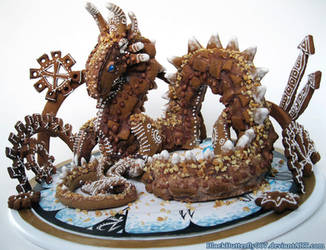 Gingerbread Dragon by Si3art