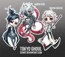 Chibi Tokyo Ghoul by Si3art