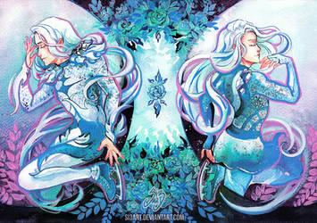 Agape And Eros Vitya by Si3art