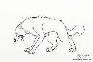 wolf line art thingymabobber by addicted-to-sushi