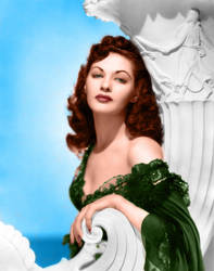 Yvonne de Carlo - Colorization by Wrath-of-Vader