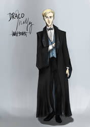 Draco Malfoy - in formal robe by NereaM