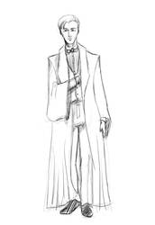 Draco Malfoy - in formal robe - lineart by NereaM