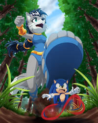 Lupe and Sonic by M154R1