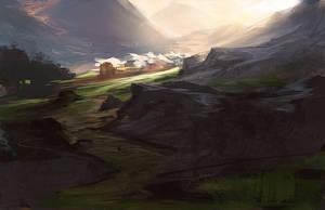 Light through the Pass by noahbradley