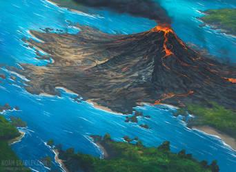 Volcanic Island by noahbradley
