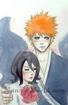 Rukia and Ichigo by LannySu