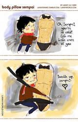 Body Pillow Sempai by LannySu