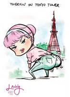 twerkin on Tokyo Tower by LannySu