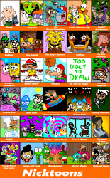 30 Nicktoons by FlyingEgglant