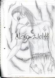 Elfo y arbol by alexowolff