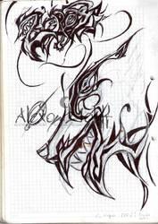 Lobo zeros Grafiti by alexowolff
