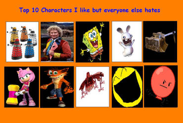 More my top 10 characters I love but everybody hat by g1bfan