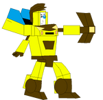 Yellow dash in Transformers form by g1bfan