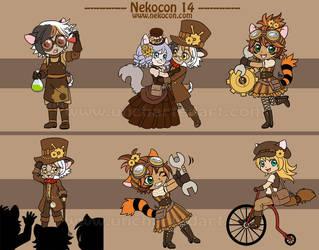 Nekocon 14 Mascots by algy