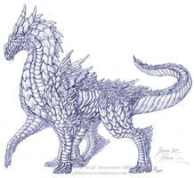 :render: - Sapphire Gem Dragon by algy