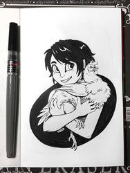Inktober 2018 Day 5 - Chicken by algy