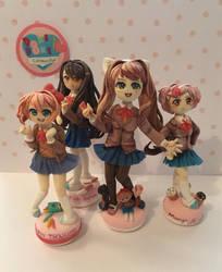Doki Doki literature club figures by sofokhl