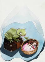 Thumbelina and the Frog by EpHyGeNiA