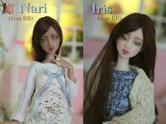 IN STOCK - Nari and Iris 19cm BJD by Rosen-Garden