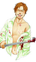 A confined serial killer by Mafer