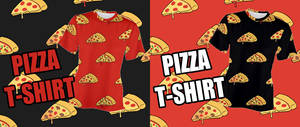Delicious PIZZA T-SHIRT by Mafer