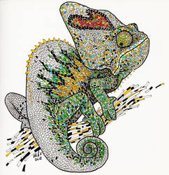 Colorfull Lizard by willustration