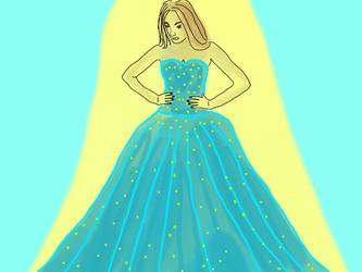 Blue dress by davincimelancholy