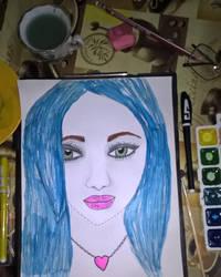 Blue hair by davincimelancholy