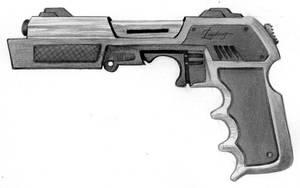 Futuristic Handgun by raben-aas