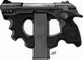 SR Shadowrun Weapon Design by raben-aas