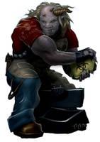 Shadowrun Troll by raben-aas