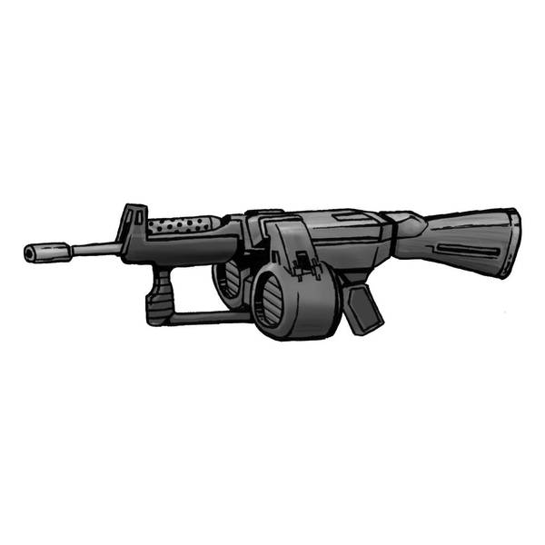 Shadowrun assault rifle by raben-aas