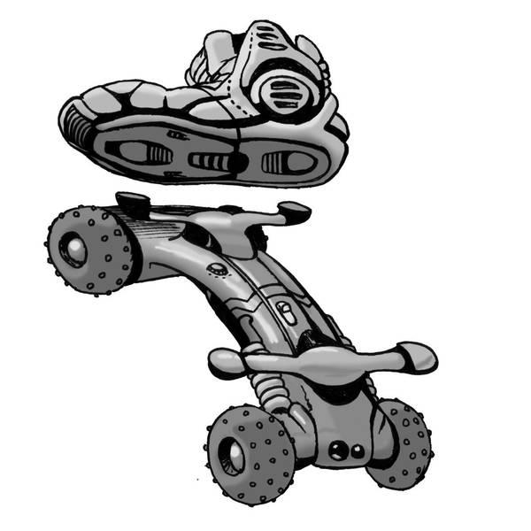 Shadowrun Motorskateboard by raben-aas