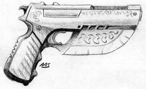 Shadowrun Fashion Gun by raben-aas