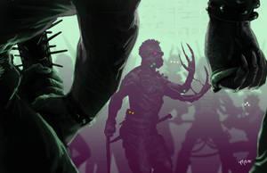 Shadowrun street gang clash by raben-aas