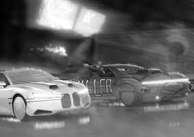 Shadowrun Car Wars Street Race by raben-aas