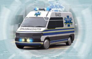 Shadowrun Ambulance by raben-aas