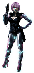 Shadowrun Female Decker by raben-aas
