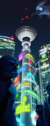 Shadowrun Berlin Alexanderplatz by raben-aas