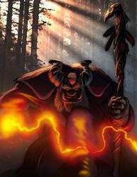 Shadowrun Troll Hermit Mage by raben-aas