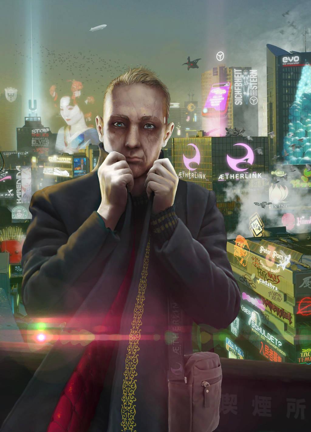 Shadowrun Novel Cover Iwans Weg by raben-aas