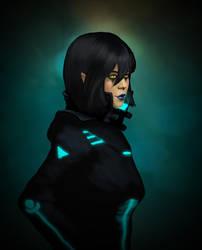 Shadowrun Girl by raben-aas
