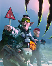 Shadowrun Mission Cover by raben-aas